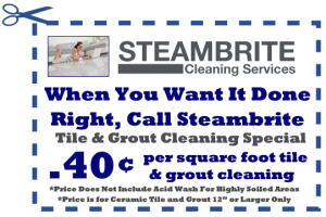 professional tile and grout cleaning coupon by Steambrite Cleaning Services