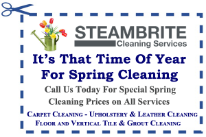 Carpet Care Tips - spring Cleaning Coupon