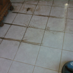 Best way to clean tile floors - before and after