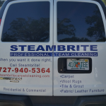 Van for Steambrite Cleaning Services for the best way to clean tile floors